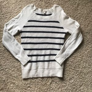 Blue and White Striped J. Crew Sweater
